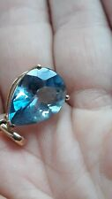 10.34ct Santa Maria Blue Topaz 9k Gold