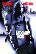 MAXIMUM RISK MOVIE POSTER ORIGINAL 27x40 DS 1996 JEAN CLAUDE VAN DAMME