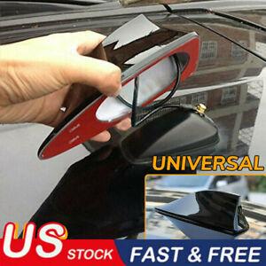 Universal Shark Fin Car Roof Antenna Radio FM/AM Signal Aerial Accessories BLACK