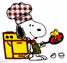 """4"""" Snoopy chef cook kitchen set fabric applique iron on character"""
