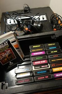 SEARS TELE-GAMES (Atari 2600) w/Storage Box, Games, 2 Controller, paddlesManuals