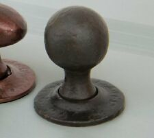 Anvil 33230 Beeswax Black Round Mortice/Rim Door Knob Handles & 2 Escutcheons