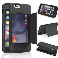 iPhone 6 Plus Card Slot Wallet ID Case [Kick Stand] Dual Layer Protection Armor