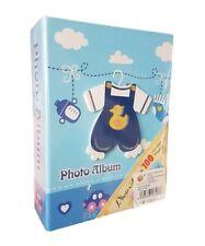 Album Fotografico Raccoglitore Foto Maschietto Baby 100 Fotografie 10x15cm dfh