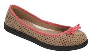 Dearfoams Women's Ballerina Casual Shoes Indoor / Outdoor Flats Slippers 9