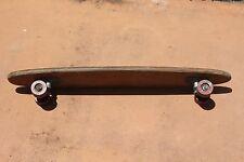Vintage Wooden Skateboard Surfer Hang Five