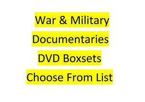World War One WW2 Vietnam Gulf War Armed Forces Spitfires Military DVD Boxsets