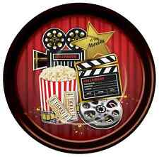"At the Movies Hollywood Oscar Award Show Prom Theme Party 9"" Dinner Plates"