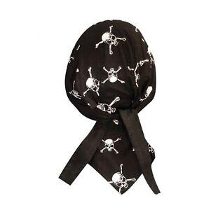 Skulls & Crossbones Bandanna Biker Doo Du Rag Head wrap Skull cap Capsmith Hat