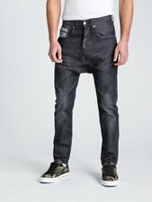 NEUF Jeans Pull&Bear 44 W34 noir baggy urban denim skater hip hop pantalon pants