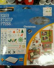 Fiskars Clear Stamp Set Natale X 41 RUBBER STAMPS.