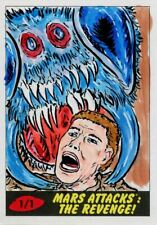 Mars Attacks The Revenge Sketch Card By Barry Nygma