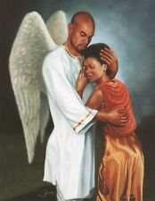 "African American Art ""He Comforted Me"" Black Religious Print by Henry Lee Battle"