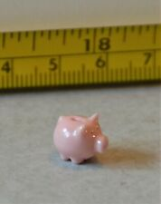 Avon Miniatures Piggy Bank Porcelain China UK Rare 1/24 Scale Pink Discontinued