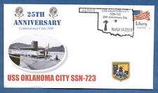 NAVAL COVER USS OKLAHOMA CITY SSN-723 25TH ANNIVERSARY OF COMMISSIONING