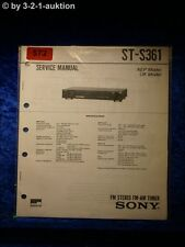 Sony Service Manual ST S361 Tuner  (#0572)