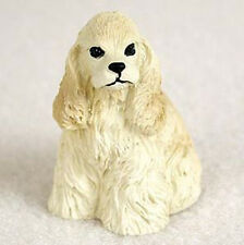 COCKER SPANIEL BLONDE TINY ONES DOG Figurine Statue Pet Gift Resin