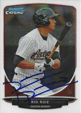 Rio Ruiz Houston Astros 2013 Bowman Chrome Signed Card