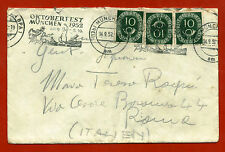 GERMANY, BUSTA ENVELOPE, ANNULLO MÜNCHEN OKTOBERFEST 1952     m