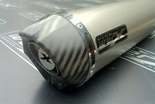 Honda CB 500 2000 2001 2002- Titanium Round,Carbon Outlet,Exhaust Can, Silencer
