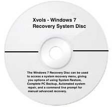 Win 7 32-Bit Disc - Recovery CD , Repair, Restore  Installation