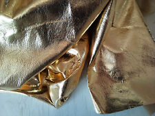 Gold Fashion Metallic Foil Leather Suede Skins Hides Craft Trimming 15 sqft
