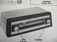GROMMES GRT-1 TUNER RECEIVER PHOTOFACTS PHOTOFACT
