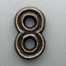 Classic Bronze Hausnummer - Ziffer 8 - ca. 12 cm handgefertigt Hausnummern Anft
