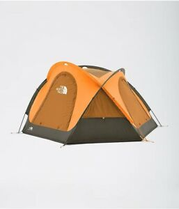 The North Face Homestead Domey 3 Tent Camping Exuberance Orange/Tan/Green NEW!