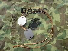 USMC USN US Navy Dog Tags Blanc ID Discs Name Dog tag VMF-214 WW2 WWII 1