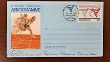 COMMONWEALTH GAMES 1982 SIGNED Sir Edward Williams + Decima Norman Hamilton