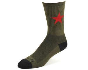 "Sockguy 6"" Wool Socks (Red Star)"