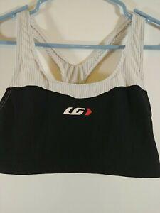 Louis Garneau Women's Racing  sports bra, Size XL, Black/White, #2138