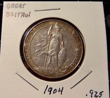 1904 Great Britain One Florin Silver Coin - Nicer Grade