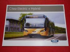 VDL Citea Electric + Hybrid Bus Prospekt von 2014