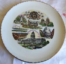 "Utah State Plate (9-1/8"") Great Salt Lake, Mormon Temple, Great Whitethrone"