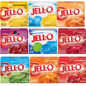 Jell-O Dessert 29 Flavours Lime Strawberry Lemon Tropical Fusion & Much More