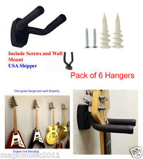(6) Guitar Hangers Hook Holder Wall Mount Display Instrument  GRJ-Q6