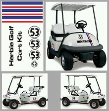 AUTH HERBIE THE LOVE BUG DECAL STICKER GOLF CART KIT Fast shipping