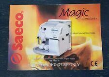Saeco Magic Comfort + Coffee Machine Operating Instructions User Manual SUP012DE