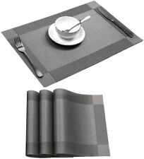 New listing Placemat Sets of 4, Placemats Heat-Resistant Dining Table Place mats Anti-Skid W