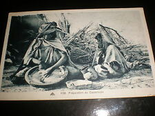 Old postcard North Africa women making couscous by Maison Carree c1900s