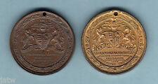 Australia - Launceston. 1887 Victoria's Jubilee Medallions x 2 diff types aU-UNC