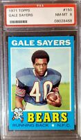 1971 Topps #150. Gale Sayers. PSA 8 (POP 175) HOC85🔥