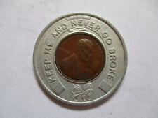 1969 Priscilla Ware Wisconsin Good Luck Penny encased cent