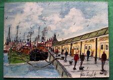 Lowestoft Fish Quay Oil Painting : Peter J Hadden : Give Fine Art