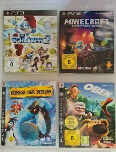 PS3- Schlümpfe + Minecraft + K.D.Wellen + Oben - 4 Kinderspiele - PlayStation 3