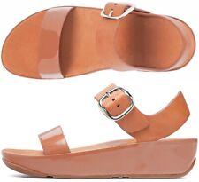 Fitflop Bon Camel Womens Leather Sandals Shoes Size 9