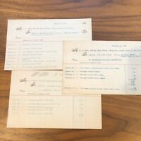LOT OF 3 VINTAGE 1949 SECRETARY  EPHEMERA RECEIPTS INVOICES