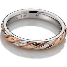 Hot Diamonds Breeze Ring Silver & Rose Gold Plated Accents DR177 Size L Ladies
